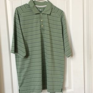 Bolle men's polo golf shirt Large green stripe